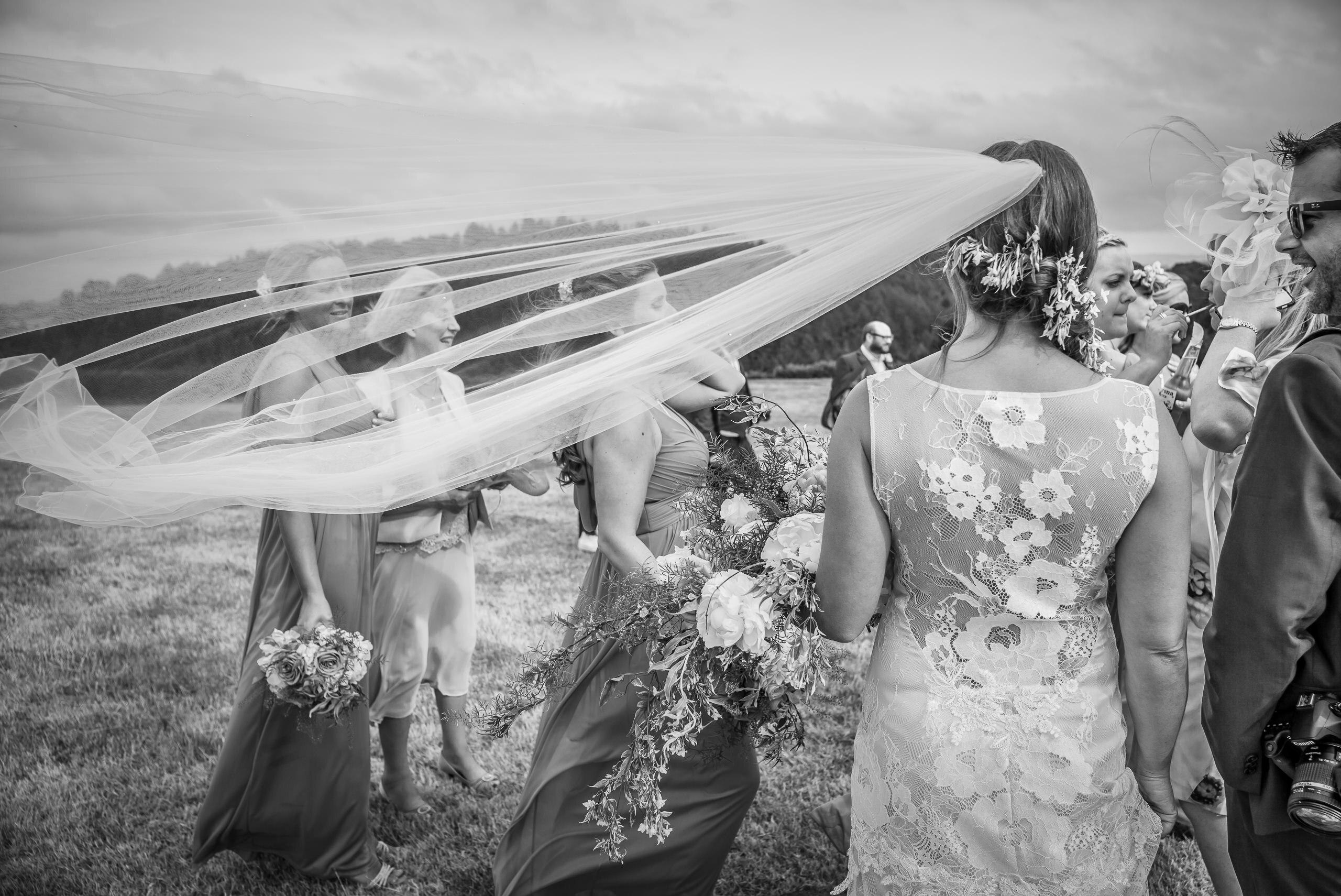 Wedding Portfolio Documentary Candid Veil In Wind By Brett Leica Photographer