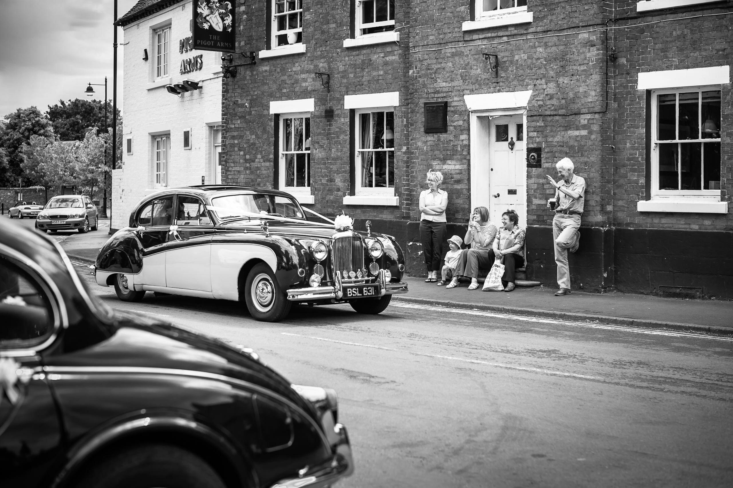 Wedding Portfolio Jaguar Car Pattingham To Church By Brett Leica Photographer