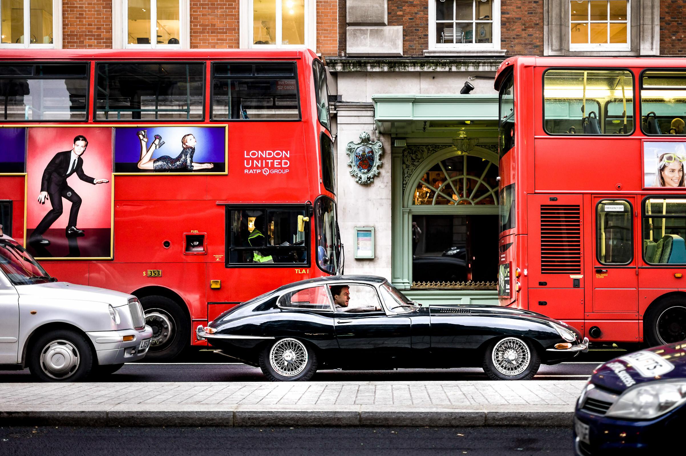 Workshop Portfolio London Bus Etype Jaguar By Brett Leica Photographer