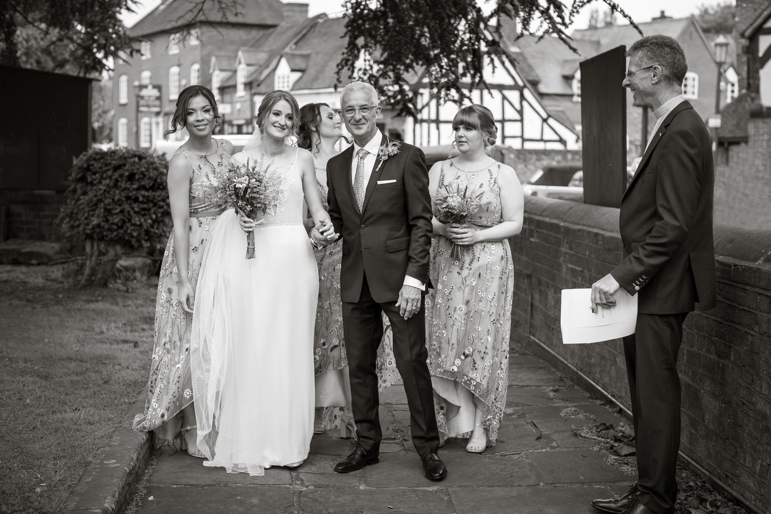 Wedding Gallery In The Village Bride Father Walk To Church By Brett Leica Photographer