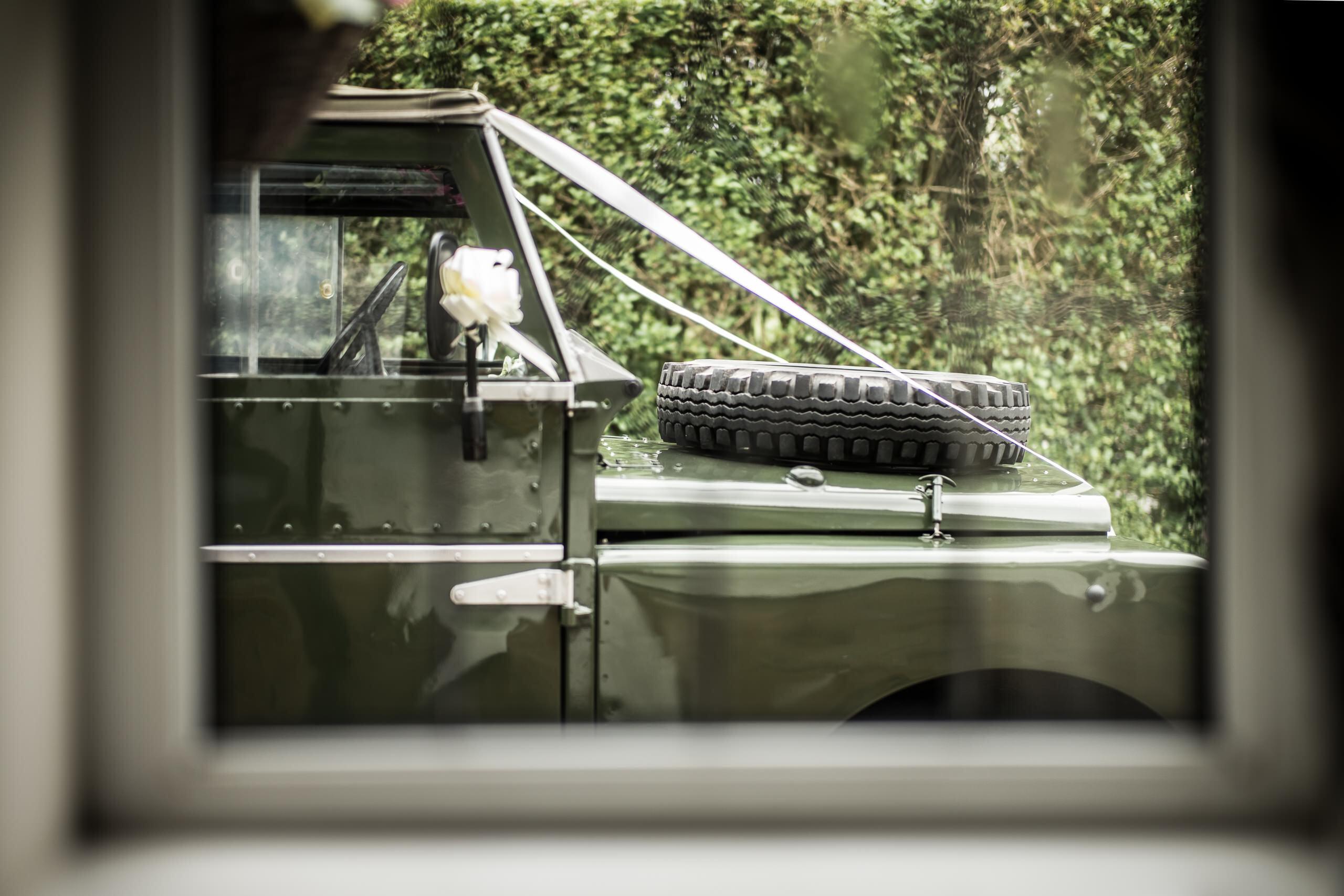 Wedding Gallery In The Village Land Rover Window By Brett Leica Photographer