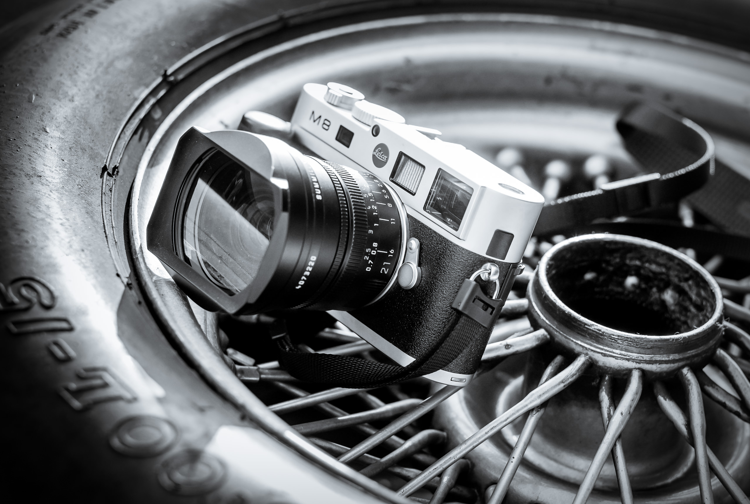 Wayfinder Workshop 21Mm Summilux Goodwood Revival M8 Wire Wheel By Brett Leica Photographer