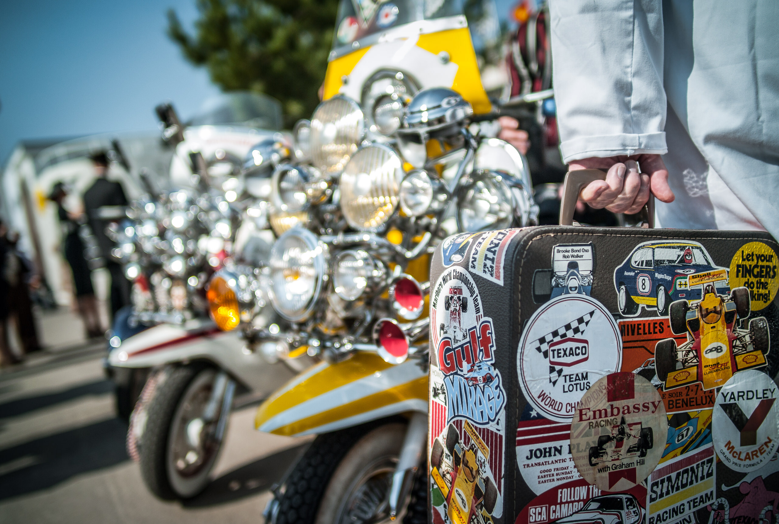 Wayfinder Workshop Goodwood Revival 21Mm Summilux Scooters Suitcase By Brett Leica Photographer