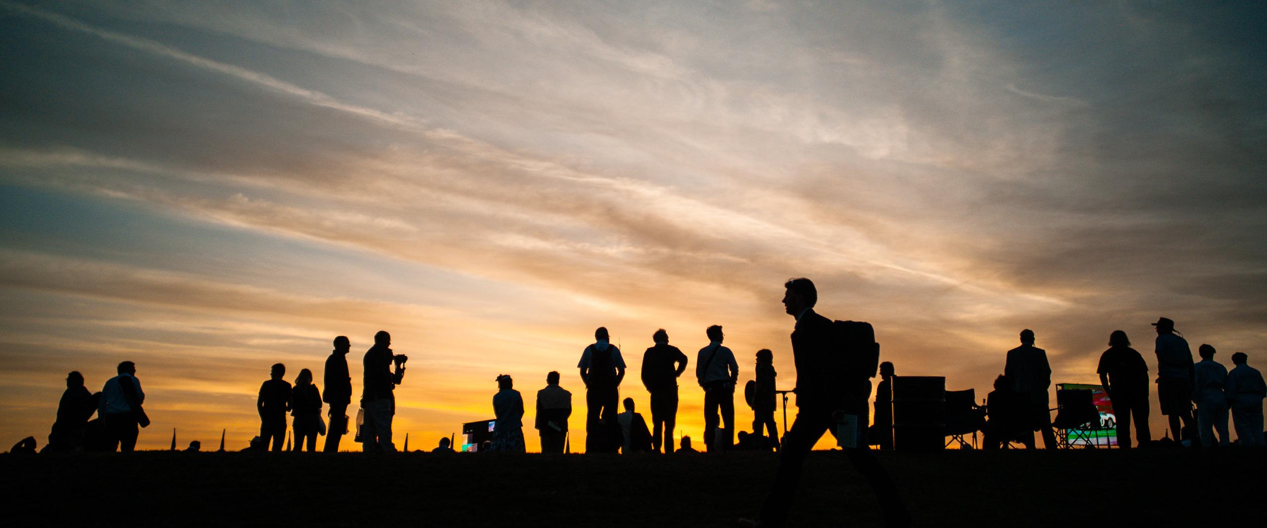 Wayfinder Workshop Goodwood Revival Sunset Crowd By Brett Leica Photographer