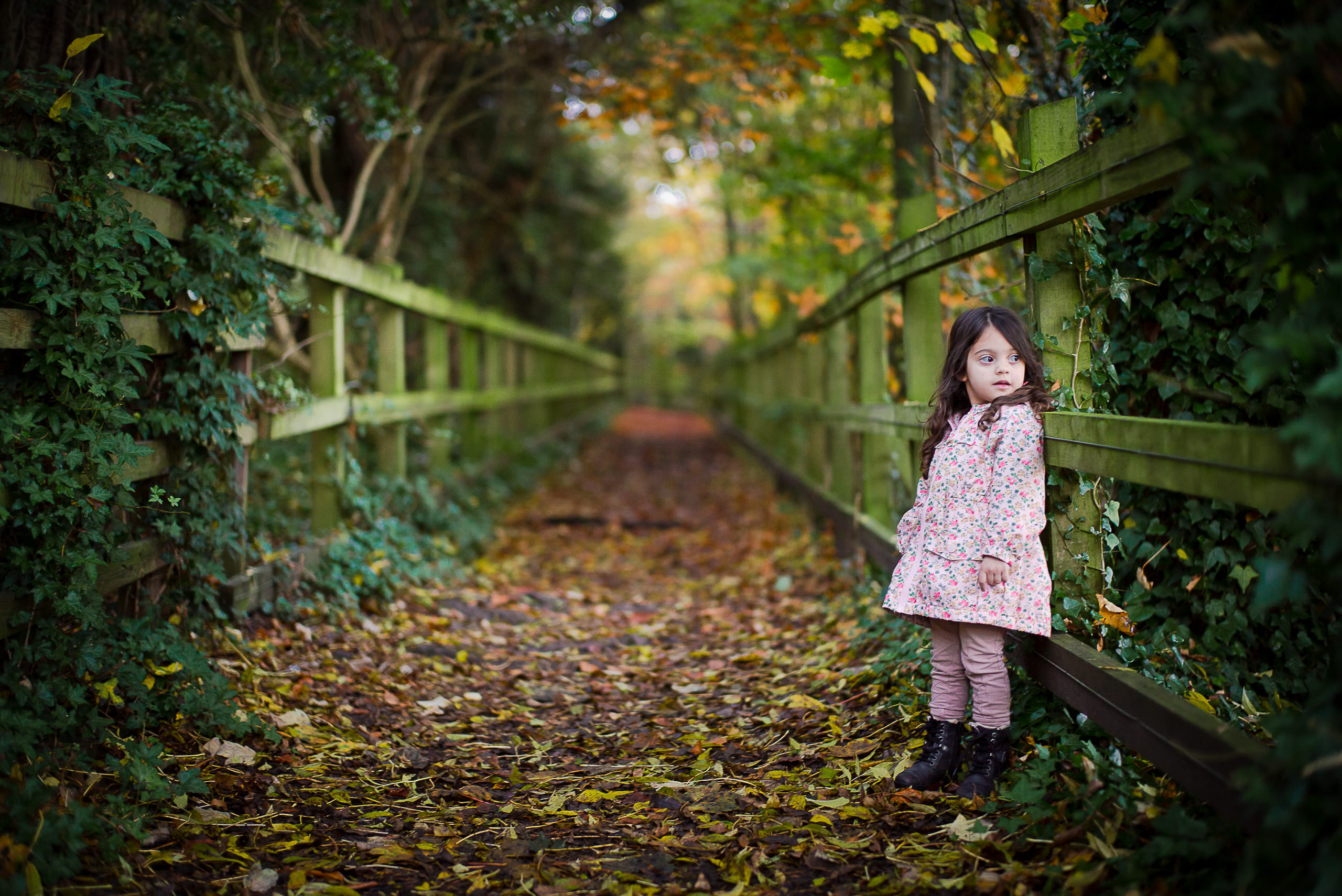 World Gallery Child Autumn Path Bokeh By Brett Leica Photographer