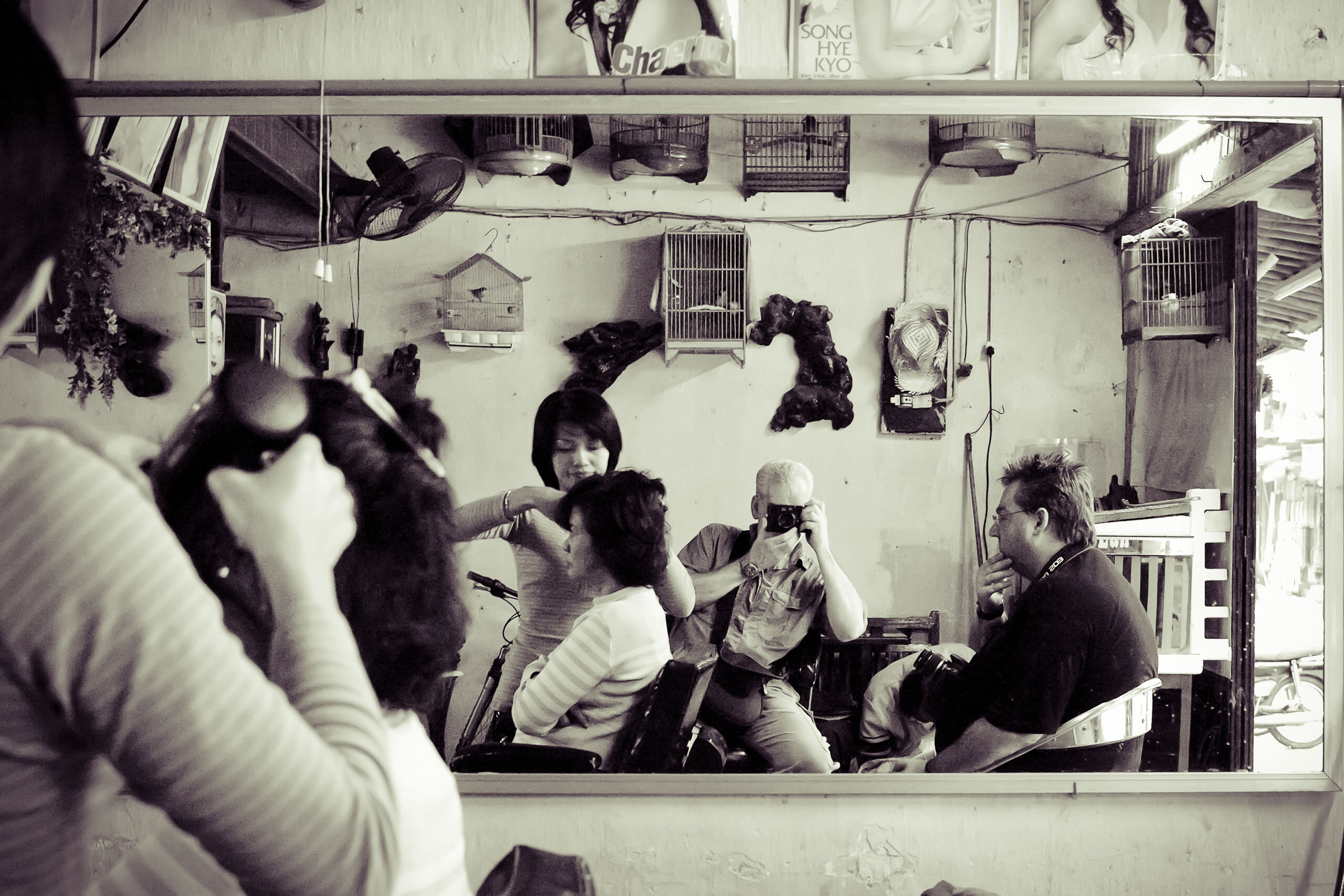World Gallery Vietnam Barbers Shop Selfie By Brett Leica Photographer